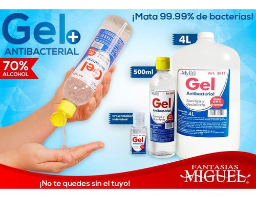 gel antibacterial 4 litros fantasías miguel 3611 mylin