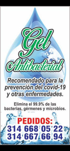 gel antibacterial 60ml al 96% de alcohol