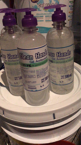 gel antibacterial 70% alcohol.