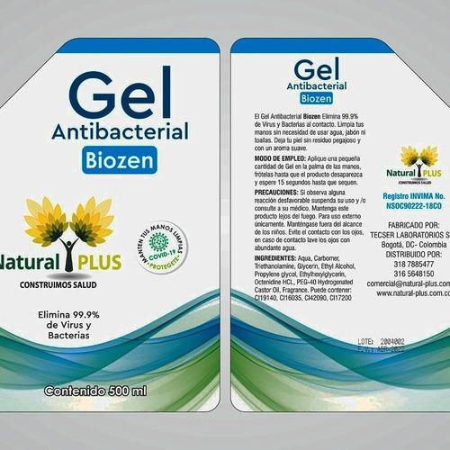¿¿¿gel antibacterial 70% alcohol después de 12 $11.500