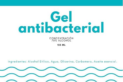 gel antibacterial %70 alcohol etílico 1 lt