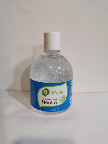 gel antibacterial 75% alcohol mata el 99.96% de gérmenes y b