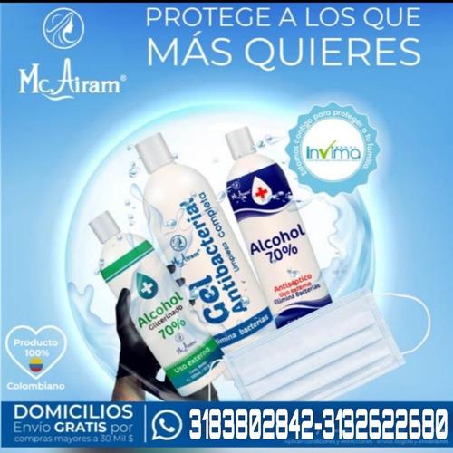 gel antibacterial, alcohol glicerinado, alcohol antiséptico,