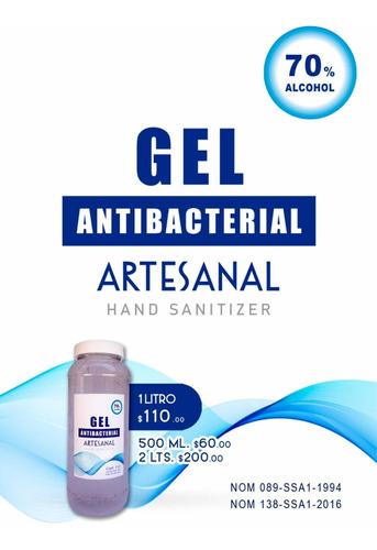 gel antibacterial artesanal