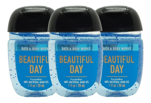 gel antibacterial bath & body works beautiful day kit 3pz