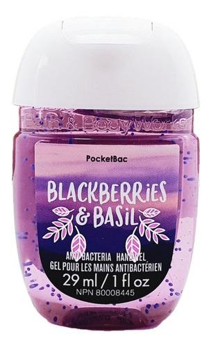 gel antibacterial bath & body works blackberries & basil