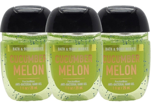 gel antibacterial bath & body works cucumber melon kit 3 pz