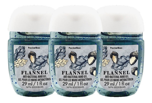 gel antibacterial bath & body works flannel kit 3pz