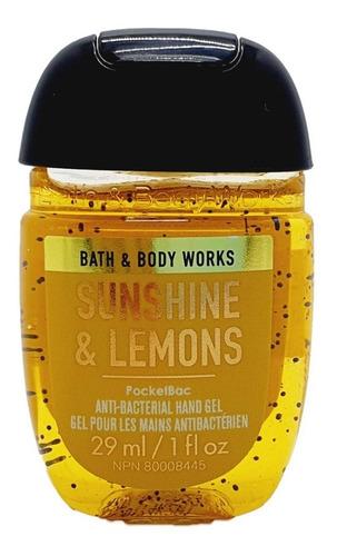 gel antibacterial bath & body works sunshine & lemons 29 ml