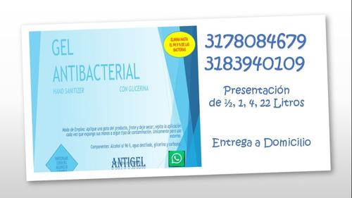 gel antibacterial con glicerina