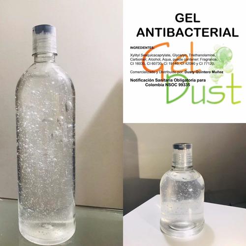 gel antibacterial con registro invima. garantizado al 70%.