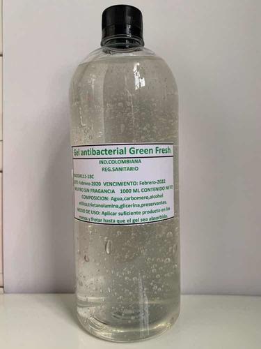 gel antibacterial de litro y medio litro. disponible