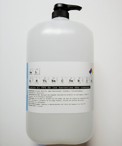 gel antibacterial desinfectante 4 litros dosificador alcohol