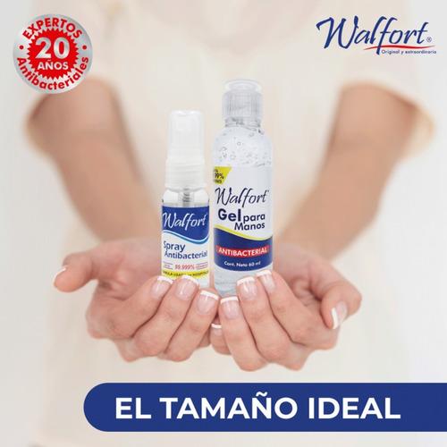 gel antibacterial desinfectante walfort 60 ml -5 pz