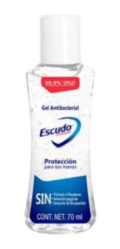 gel antibacterial escudo portatil de 70 ml elimina el 99.9%
