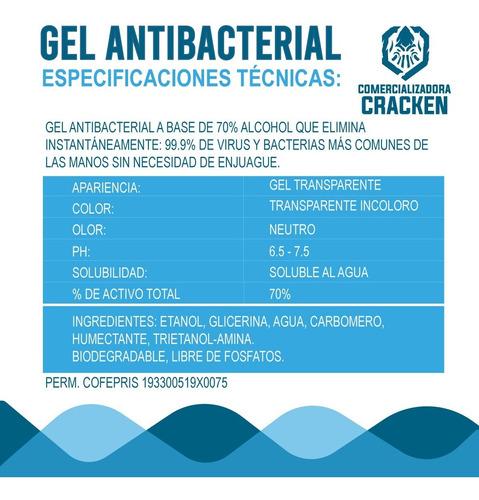 gel antibacterial para manos desinfectante 60 mililitros