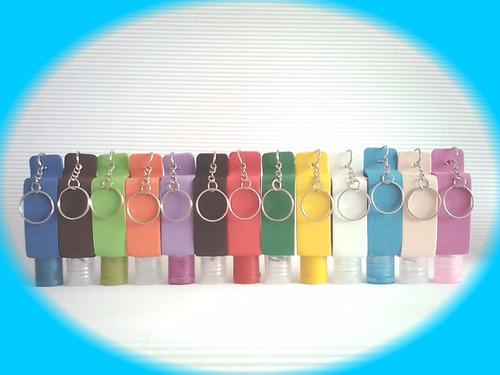 gel antibacterial personalizado x  35 ml  estuche llavero