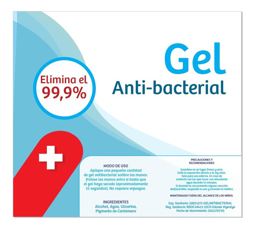 gel antibacterial por mayor y alcohol