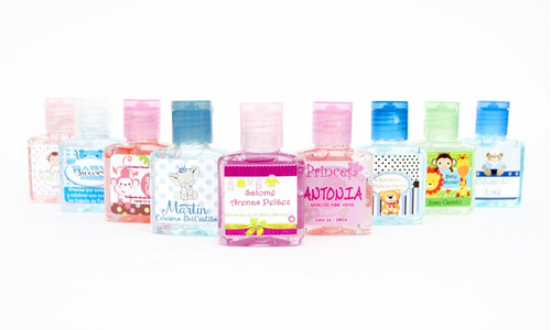 gel antibacterial  publicitario x 35 ml - docena de 13 unds