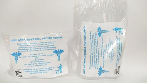 gel antibacterial  y cubrebocas