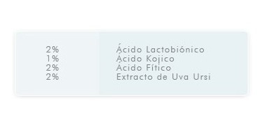 gel blanqueador de manchas acido kojico fitico irs 5 idraet
