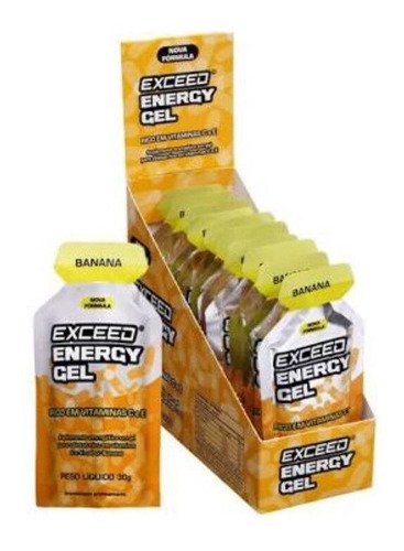gel carboidrato exceed 20 sachês -advanced (vários sabores)