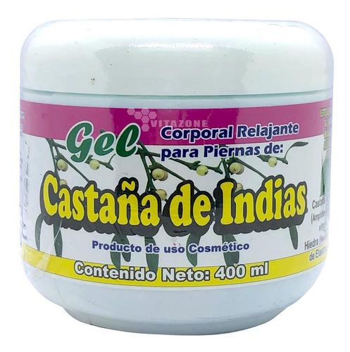 gel castaño de indias 400 ml gel corporal para piernas (2pzs