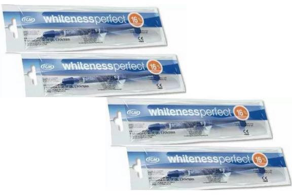 Gel Clareador Dental Caseiro Whiteness Perfect 16 4 Unidade R 85
