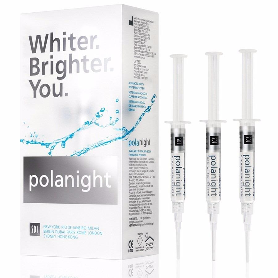Gel Clareador Dental Polanight 16 C 3 Seringas Clareamento R 82