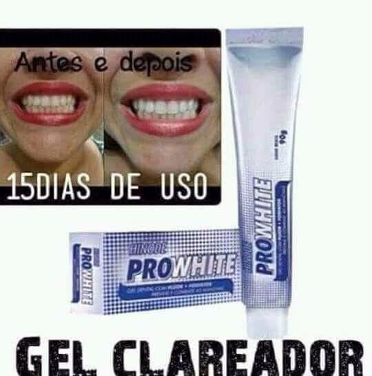 Gel Clareador Dentario Pro White R 12 00 Em Mercado Livre