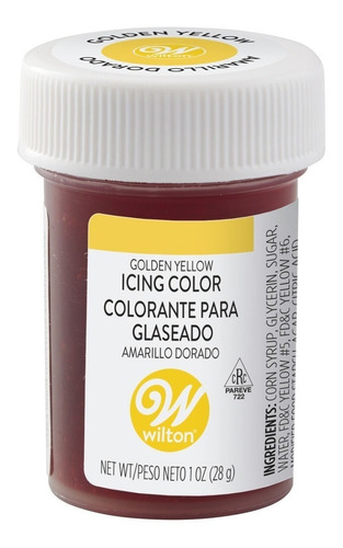 gel colorante para glaseado amarillo dorado original