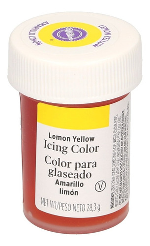 gel colorante para glaseado amarillo limon original