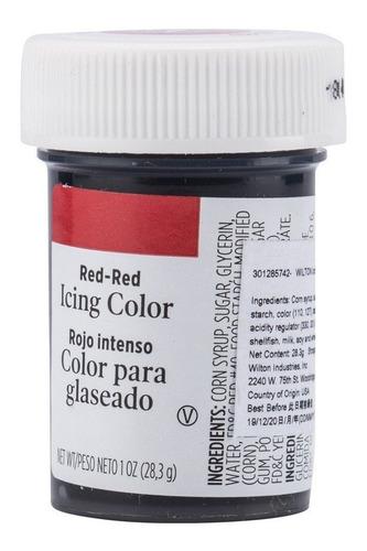 gel colorante para glaseado rojo intenso original
