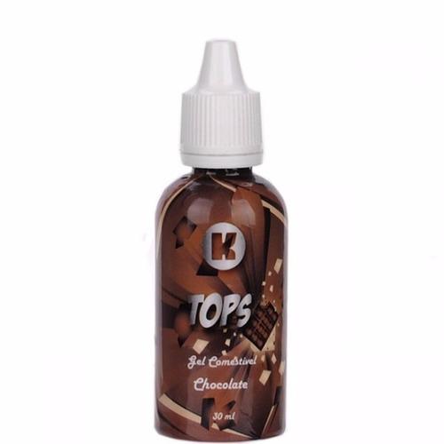 gel comestivel tops chocolate 30ml - kgel + frete grátis