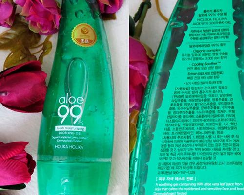gel coreano aloe vera 99% original holika holika 250 ml