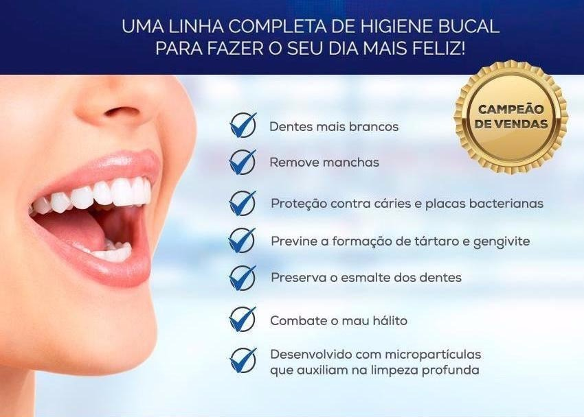 Gel Creme Dental Clareador Dentes Brancos Hinode Kit 2 Un R 24