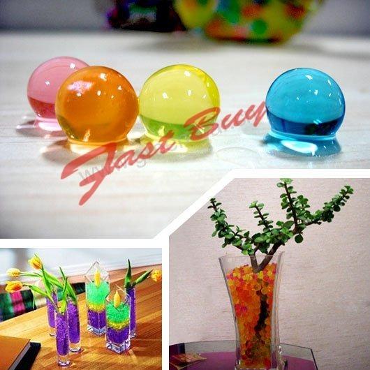 80bab1c41 Gel Cristais Crescem Na Água Decoração Plantas Vasos 50unid - R$ 164,89 em  Mercado Livre