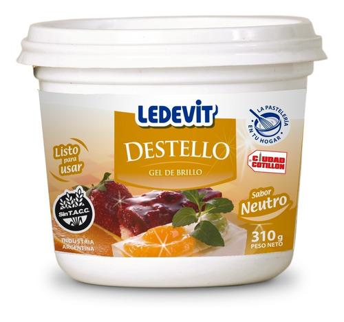 gel de brillo neutro / frutilla destello 310g ledevit