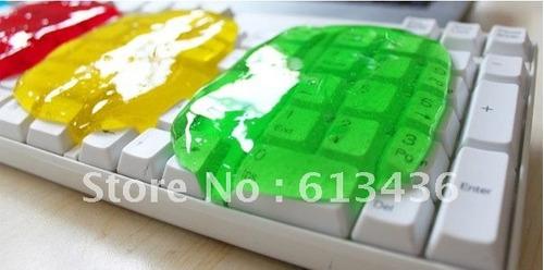gel de limpieza de teclados