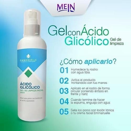 gel de limpieza facial con ácido glicólico 250ml