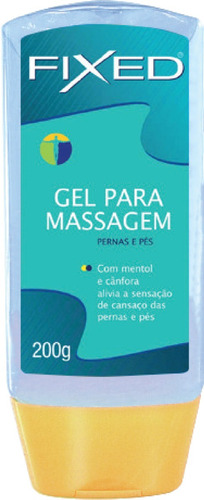 gel de massagem fixed cânfora e mentol p/ pernas e pés- 200g