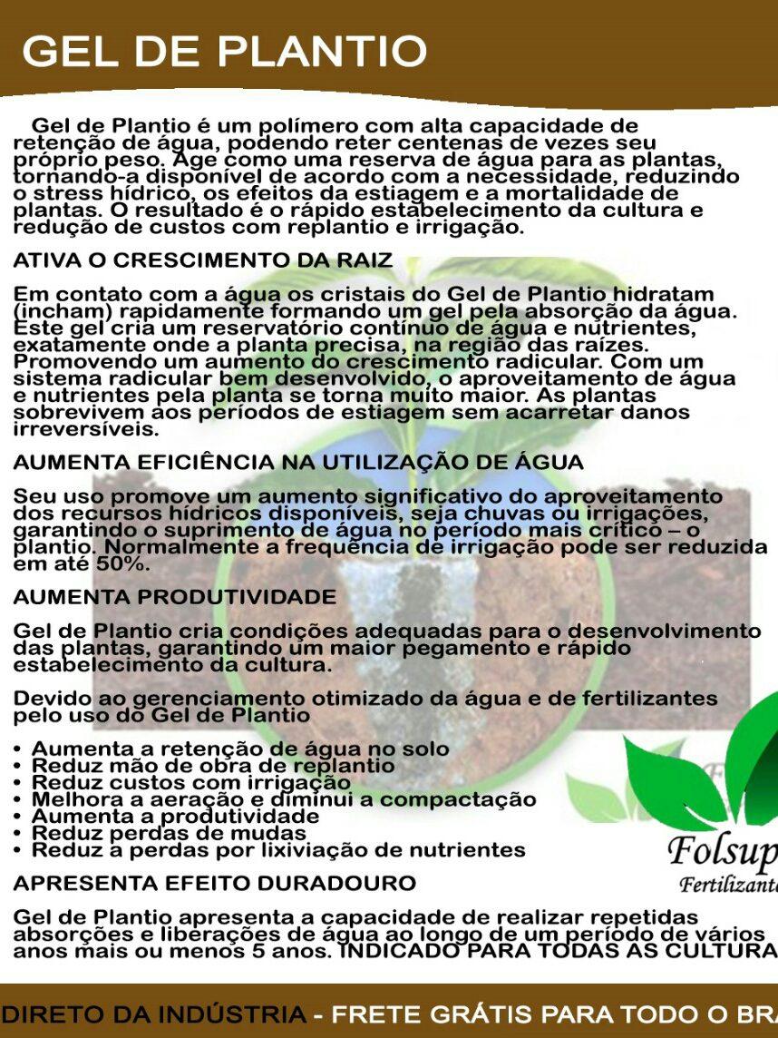 952e6748c Gel De Plantio - R$ 59,90 em Mercado Livre