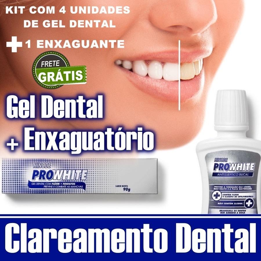 Gel Dental Branqueador Enxaguante Bucal Clareador Dental R 60