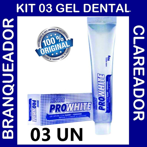 Gel Dental Branqueadora Anti Tartaro Hinode Pro White 03un R 34