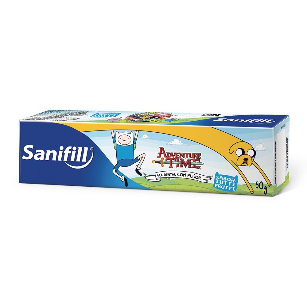 215729002 gel dental kids sanifill adventure time com 50g. Carregando zoom.