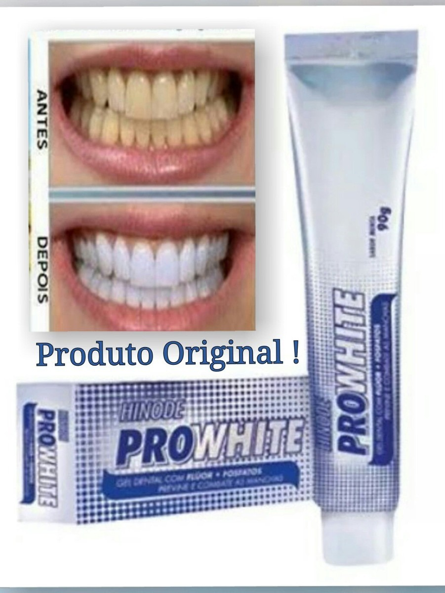 Gel Dental Pro White 90g Hinode Original Clareador Dental R 6 99