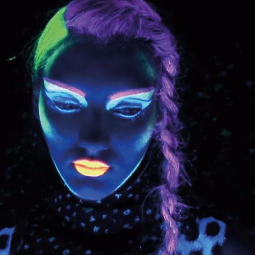gel fluorescente neon para cabelo - kit 2 un verde e azul