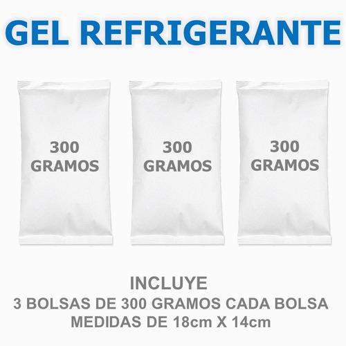 gel frio refrigerante x 300 gramos 3 unidades reutilizable