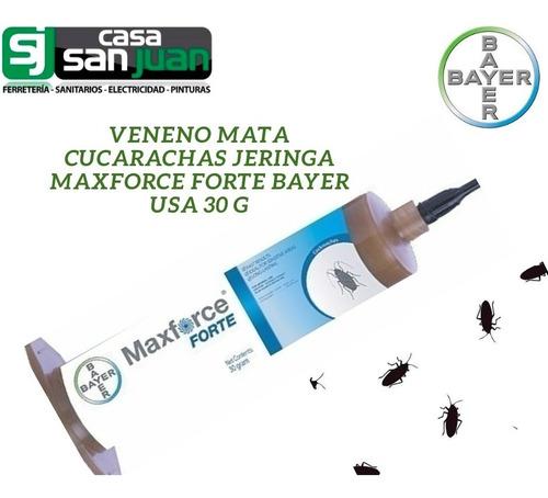 gel insecticida mata cucarachas maxforce bayer jeringa 30grs