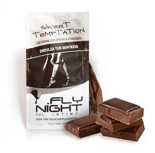 gel íntimo chocolate saborizado caja de 12 unidades